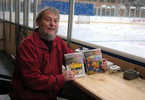 Bengt Ingelstams nya karaktär Pelle Puck gillar hockey framför allt.