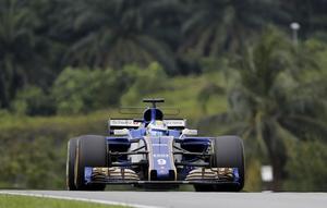Marcus Ericsson hade en tröstlös dag, var klart långsammast av alla förarna i Malaysia.