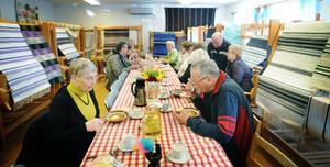 På Vävstugans vårmarknad fanns hemvävt, hembakat och hemlagad soppa.