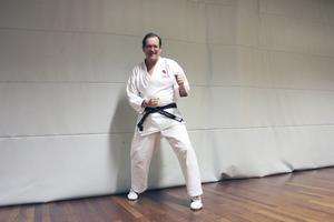 Svart bälte. Bengt tränade tillsammans med Yvonne i ett år innan den senaste graderingen.