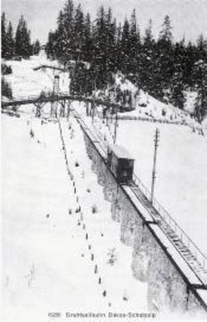 Schatzalpbahn kring 1900.