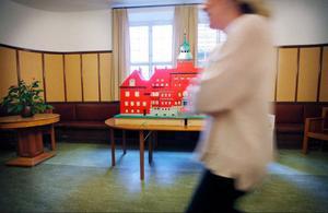 Ett Rådhus helt byggt i lego kommer besökarna att kunna se i helgen.