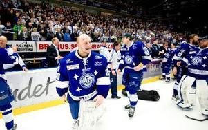 Oscar Alsenfelt motade 39 av 40 skott, och blev poängräddare mot Luleå. Foto: Klockar Mattias Nääs/DT