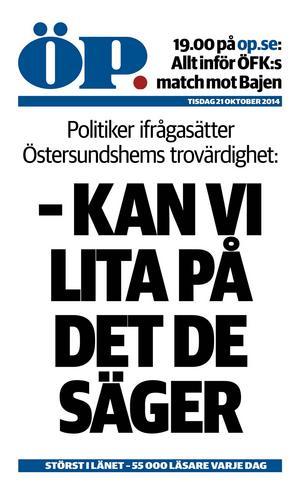 ÖP, tisdag 21 oktober 2014.