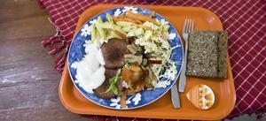 Gårdagens måltid i Gävles skolor