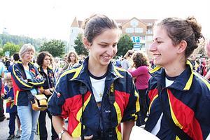 Hela vägen från Schweiz kom systrarna Federica och Ilaria Gianola. De ska tävla fem gånger under O-ringen.