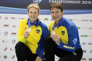 Camilla Johansson och Per Noreen tog sitt tredje VM-silver tillsammans.