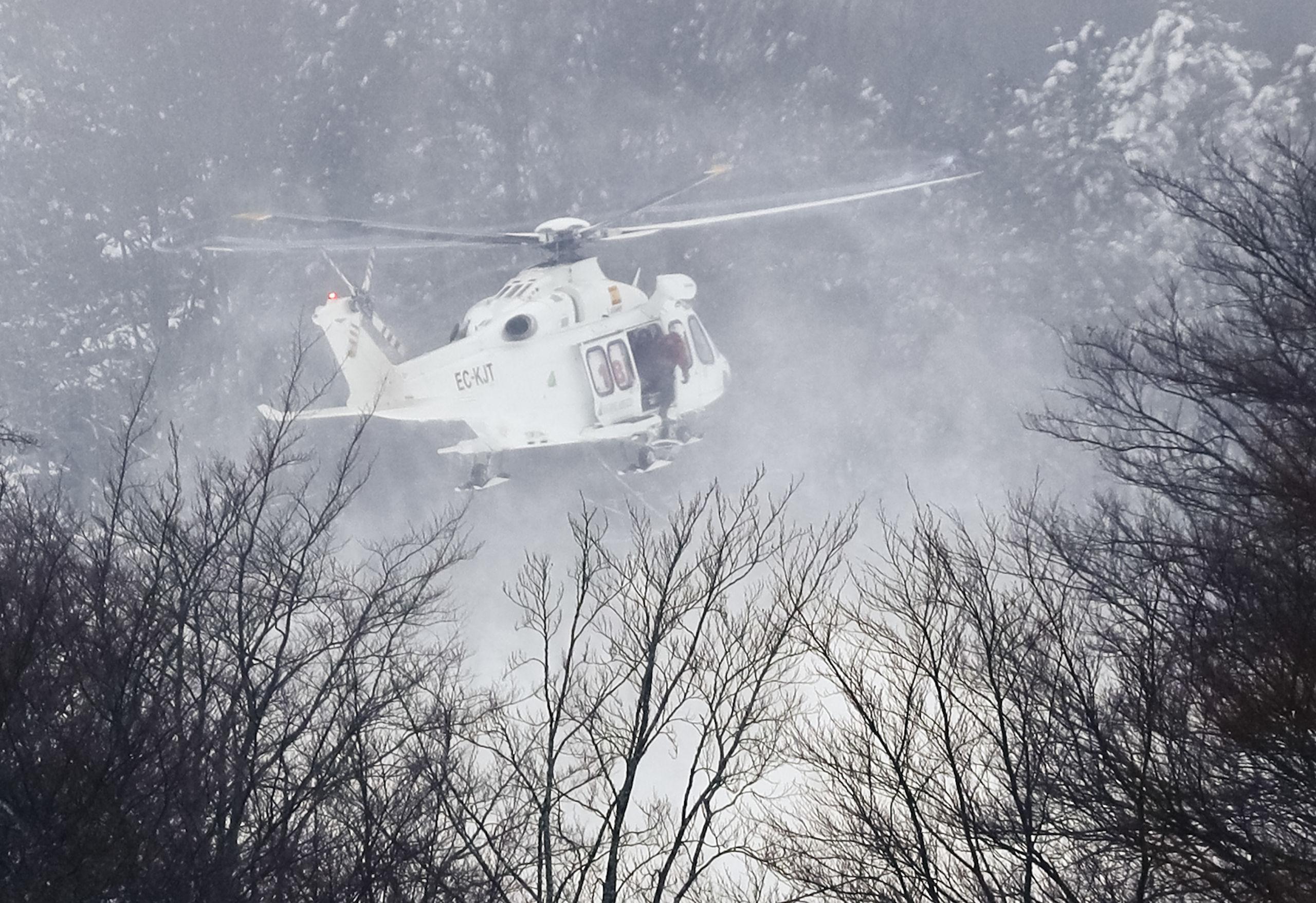 Usa helikopter kraschad i italien