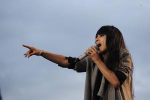 Loreen. Höll kritiserad konsert men fokuserar på folket. FOTO: ERIK MÅRTENSSON/SCANPIX