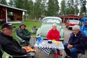 – Vi har åkt hit bara för det här, säger Yngve Sandell, en av dem fyra i sällskapet från Gagnef.