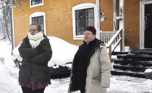 Lotta Hylla och Catarina Lindström vill ha en hyresreduktion för alla fel i husen.