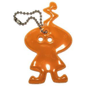 En söt liten mjuk reflex i form av en orange rymdgubbe från Detaljochdesign.se.
