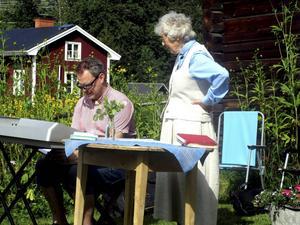 Organisten Richard Saur och prästen Göta Bergren.