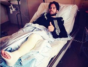 Sellin fick tillbringa två nätter på sjukhus efter skadan.