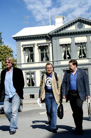 Ledande teatermän – Rolf Lassgård, Peter Oskarson och Kurt Nylander.