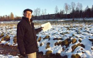 Här, på Prästgärdet, vill Dan Ericson  att det nya särskilda boendet byggs.FOTO: ANNA ENBOM