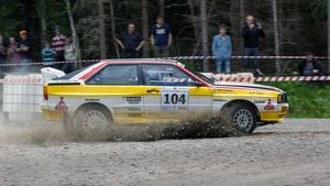 Totalvinnaren Arne Bäckström och Micke Ståhl, Haninge, Audi Quattro.