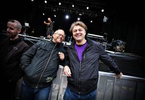 Björn Engqvist och Öyvind Thon hade kommit för att se Ultravox - men knappast för sista gången.