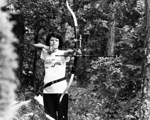 Ann-Sofie Curtil tävlade i skytte 1986.