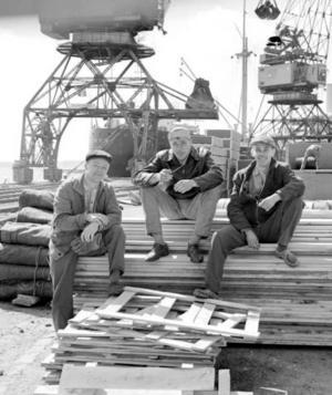 Inte bara artikelförfattaren knäckte i hamnen. När Gävleborgs läns orkesterförening hade avslutat vårsäsongen och innan sommarkonserterna började brukade några av kammarmusikerna jobba som stuvare i Gävle hamn. Fagottisten Börje Skeppstedt, trombonisten Hans Lundvik och kornisten Nils Jansson arbetade som stuvare i Gävle hamn på semestern tidigt 60-tal..
