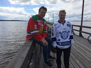 Peter Hermodsson, Mora IK, och Kjell Kruse, Leksands IF.