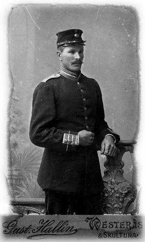 Indelte soldaten Erik Axel Brandt, 1868-1953.