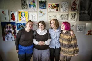 Berit Norlander, Sofia Valrygg, Anna Lodén och Sara Chi.