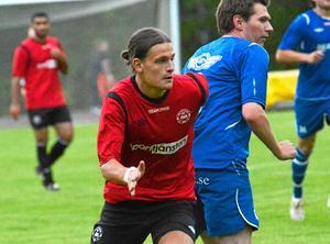 Målskytt. Josef Steiner satte 1–0 för Nora-Pershyttan mot Adolfsberg.