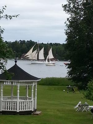 Vy från Blidösund. Foto Berit Markeryd