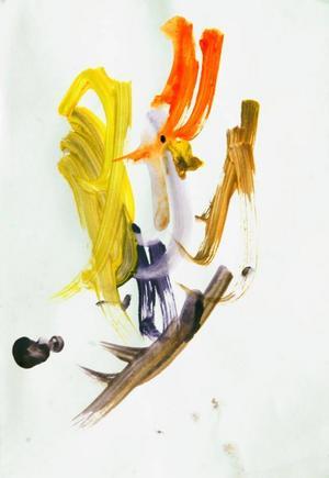 Liam Jonasson, 4, från Höglunda utanför Stugun har målat en påsktupp. Juryn blev så förtjust att han tog hem totalsegern.