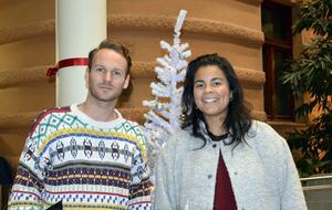 Erik Berglin och Isabel Neib fick stipendier i Kulturmagasinet.