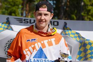 Adam Andersson vann juniorklassen i Hedemora.