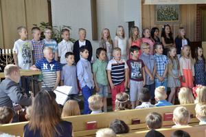 Skolavslutning i Bergskyrkan 2015, Laxå. Klass 3 Kanalskolan.