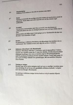Stadgarna för Al-Rashideen Moskén i Gästrikland.