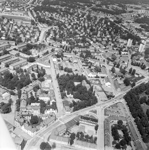 Här ser vi Herrgärdet, Kristiansborg och Karlsdal från ovan. Slutet av 60-tal säger vi, håller du med?