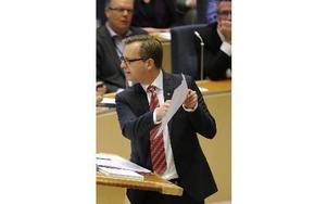 Mikael Damberg, S, under onsdagens partiledardebatt. Foto: Erik Mårtensson