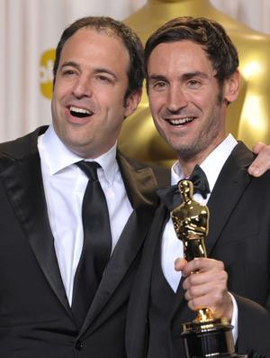 Nybakade Oscarsvinnaren Malik Bendjelloul, här med co-producenten Simon Chinn, vill behålla kontrollen och väljer därför nästa projekt med omsorg.