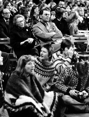 Centerledaren Thorbjörn Fälldin vann valet 1976, men föll på kärnkraften. Bilden är från ett antikärnkraftsmöte i januari 1980 i Västerås.