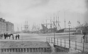 Inre hamnen i slutet av 1800-talet.