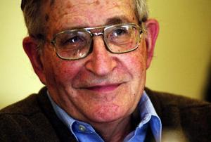Noam Chomsky: högst på listan över intellektuella.