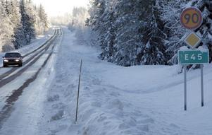 Det går fem mil europaväg genom Ljusdals kommun. Hastighetsbegränsningen är 90 km/tim.