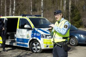 Mikael Ahrtzing vid informationsenheten på polisen i Västernorrland.