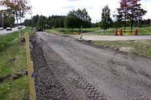 Ny cykelväg. En ny cykelväg blir det förbi Norrsätraskolan i Sandviken.