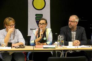Katrin Wissing (MP), i mitten av bilden, vill satsa mer på kulturen och skapa en mötesplats för alla.