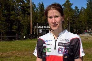 Johanna Bergman efter målgång i D21 Elit.