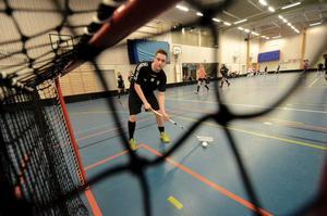 Målskytt. Johan Nordström fick sätta den avgörande bollen i sista kvalmatchen i en fullsatt Kumlahall.