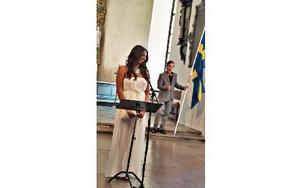 Malin Kratz lämnade klass 9c med Gabriellas sång.FOTO: BOEL FERM