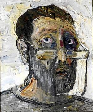 Självporträtt av Staffan Lindh.