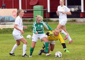 Madeleine Jonsson i målet gjorde en riktigt bra match.