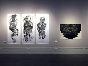 "Rafael Rodriguez tre varianter av ""Figure""."